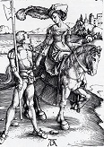 Durer/Lady_On_Horseback_And_Lansquenet